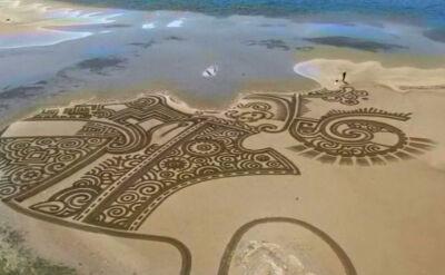 Dzieła sztuki na piasku. Stworzył je pewien Chorwat