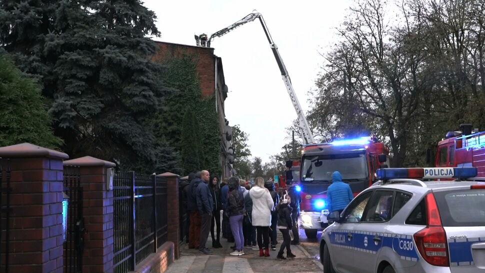Pożar w Inowrocławiu. Policja zatrzymała jednego z lokatorów