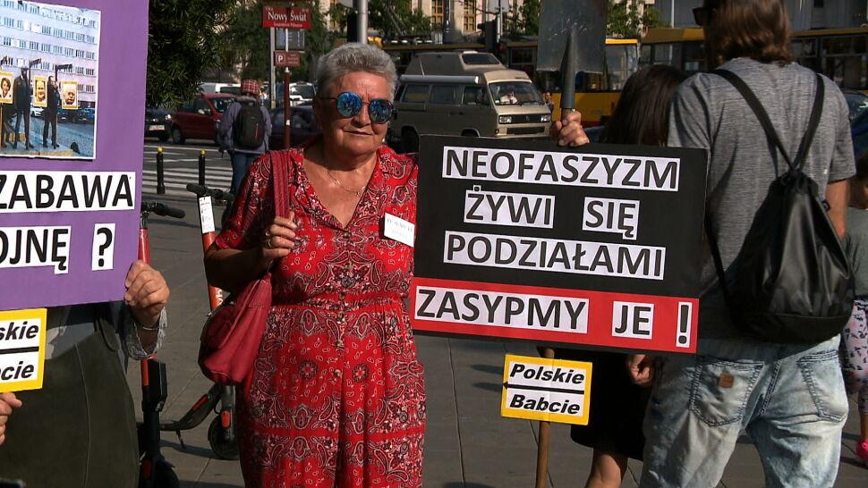 Polskie babcie przeciwko faszyzmowi na ulicach Warszawy