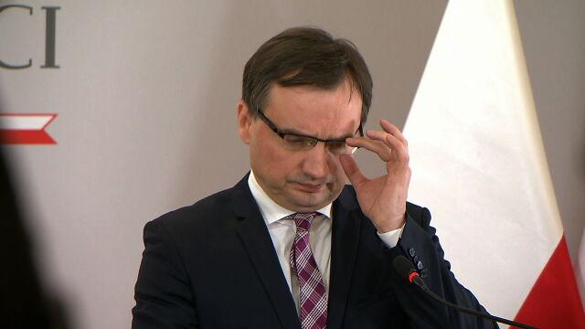 Wniosek o wotum nieufności wobec Ziobry.