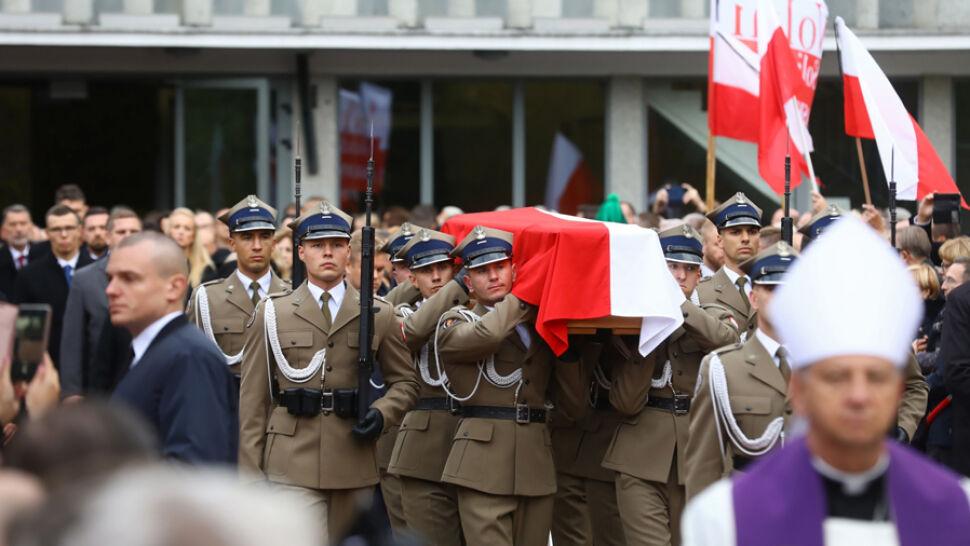 Kornel Morawiecki spoczął na Cmentarzu Wojskowym na Powązkach