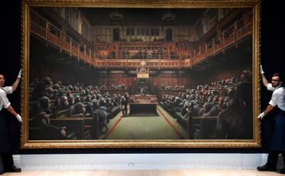 Obraz Banksy'ego sprzedany za blisko 10 milionów funtów