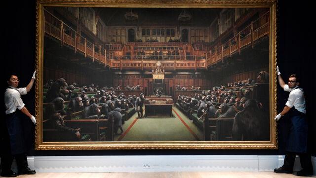 04.10.2019 | Obraz Banksy'ego sprzedany za blisko 10 milionów funtów