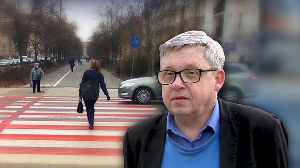 Biało-czerwone przejście dla pieszych - czy godzi się po nim deptać? Radny ma wątpliwości