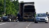 Zarzut dla kierowcy ciężarówki. W karambolu na A6 zginęło troje dzieci