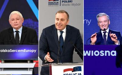 PiS o euro, opozycja o strajku nauczycieli. Sobota konwencji wyborczych
