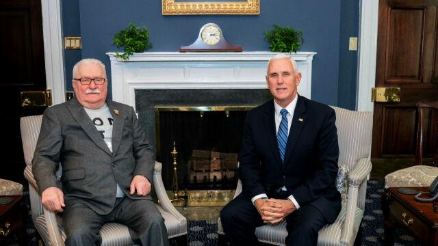 """20.11.2019   """"Ameryka zawsze będzie podziwiać jego odwagę"""". Lech Wałęsa z wizytą w Białym Domu"""