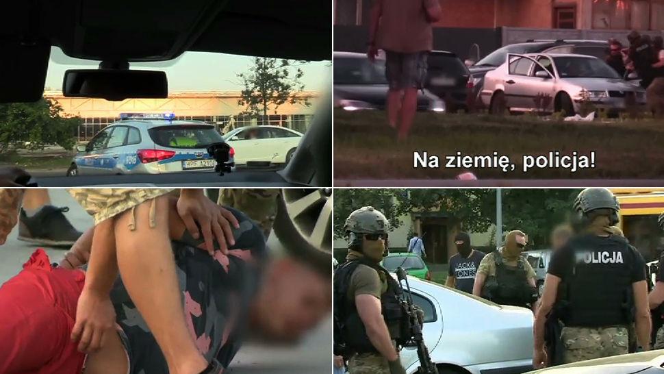 """Udana obława na łódzkich """"dilerów śmierci"""". Reporterzy """"Uwagi!"""" towarzyszyli specgrupie"""