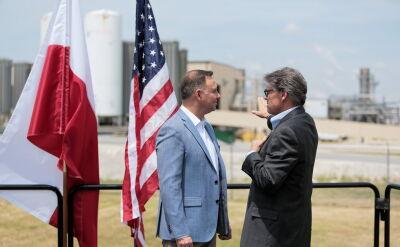 Prezydent Andrzej Duda o dostawach amerykańskiego gazu do Polski