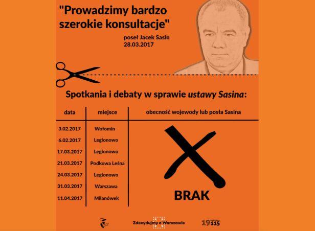 Plansza z prezentacji ratusza UM Warszawa