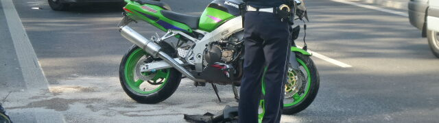 Ranny motocyklista zmarł w szpitalu