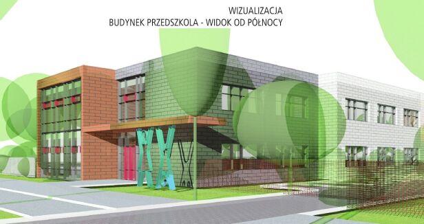 Wizualizacja przedszkola Artur Cebula Anna Kunkel Architekci