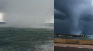 Załamanie pogody na Korsyce. Trąba wodna straszyła na wybrzeżu