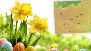 Prognoza pogody na Wielkanoc: ciepło, ale miejscami deszcz i burze