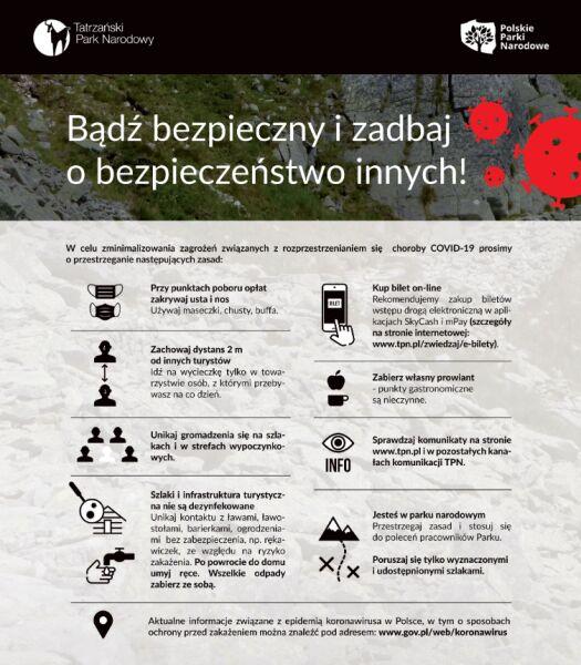 Zasady bezpieczeństwa w Tatrzańskim Parku Narodowym (TPN)