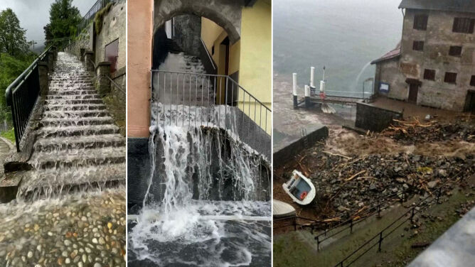 Powódź w Como. Gruz, błoto i woda powodziowa uwięziły Włochów w domach