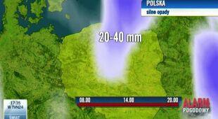 Opady w Polsce (TVN Meteo)